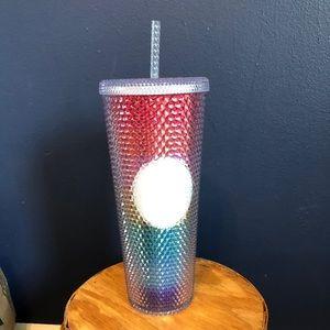 Starbucks rainbow studded tumbler cup